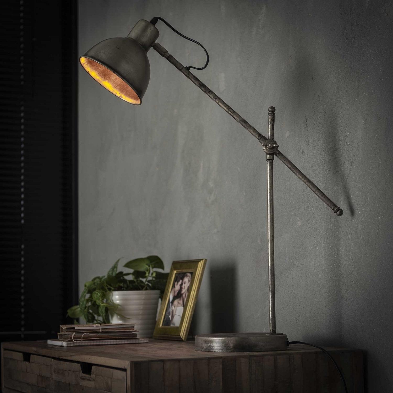 Tafellamp Loft 67 cm hoog in oud zilver | Zaloni