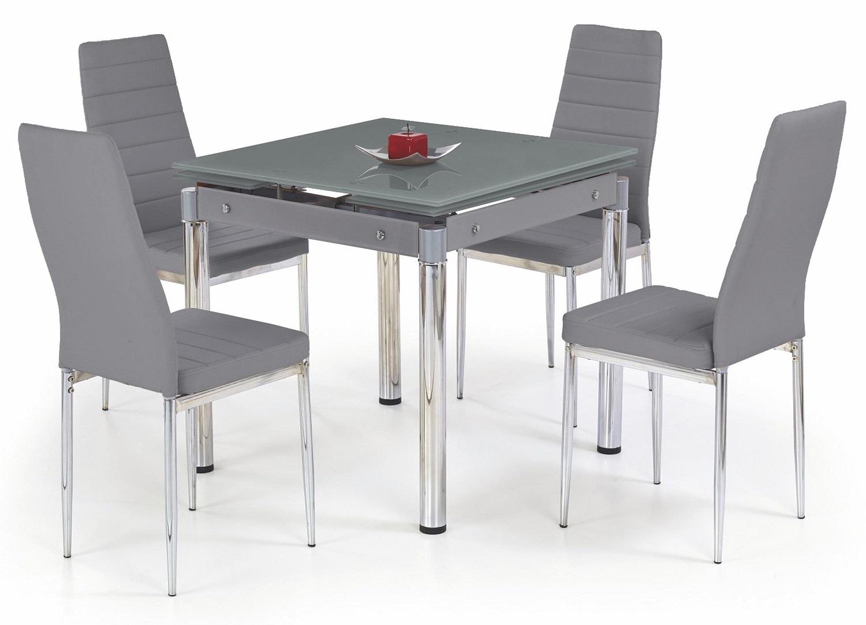 Vierkante eettafel Kent 80 tot 130 cm breed in grijsUitschuifbaar | Home Style