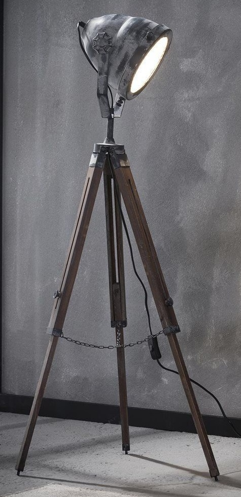 Vloerlamp Wezer 116 cm hoog – Grijs | Zaloni