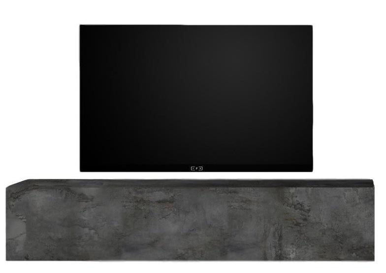 Zwevend Tv-meubel Tesla 138 cm breed in Oxid | Pesaro Mobilia