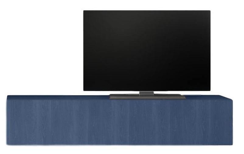 Zwevend Tv-meubel Tesla 138 cm breed in blauw | Pesaro Mobilia