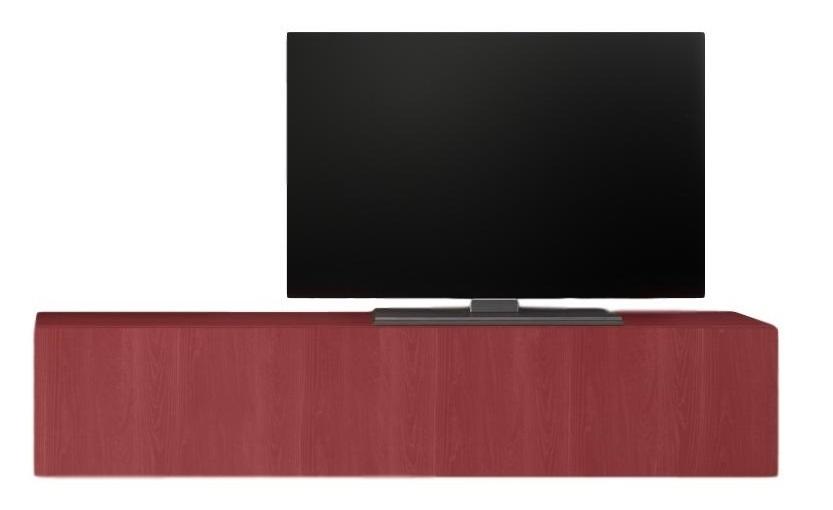 Zwevend Tv-meubel Tesla 138 cm breed in rood | Pesaro Mobilia