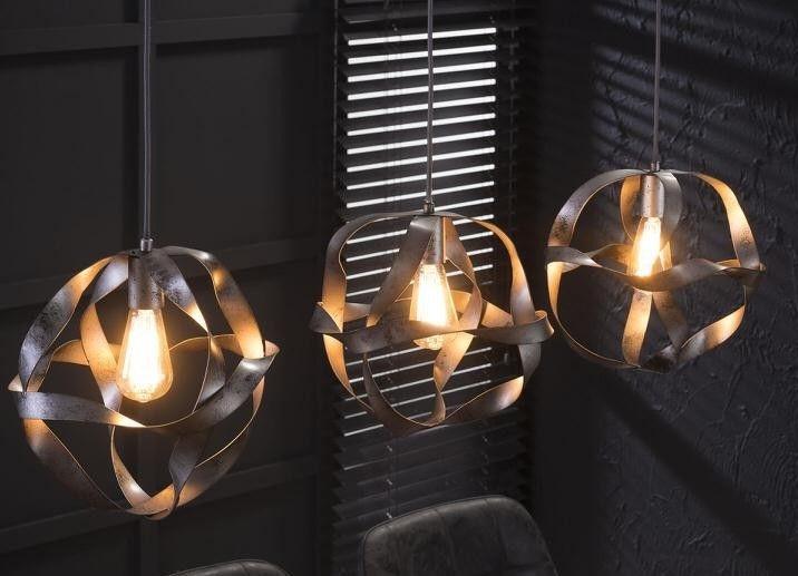 Hanglamp Twist Trio – Zilver   Zaloni