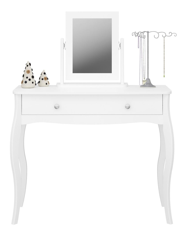 Kaptafel Baroque 100 cm breed in wit met spiegel | DS Style