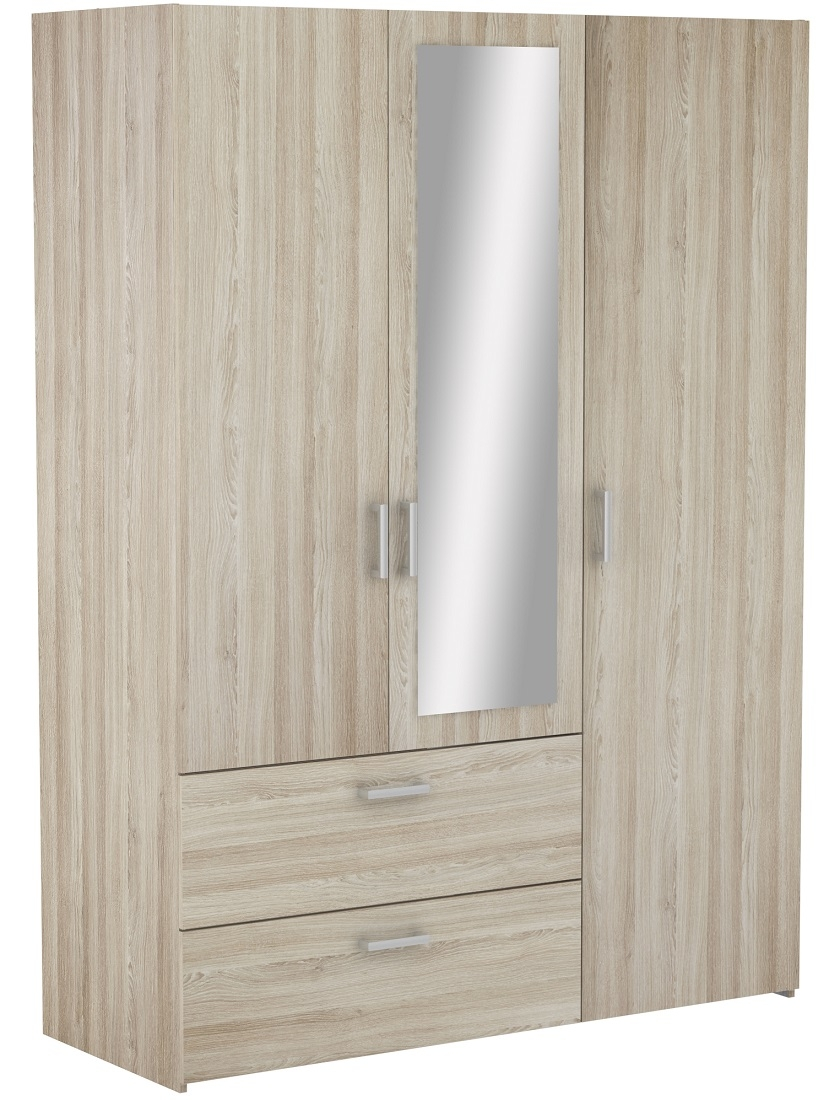 Kledingkast Ready Medium 144 cm breed – Shannon eiken | Young Furniture