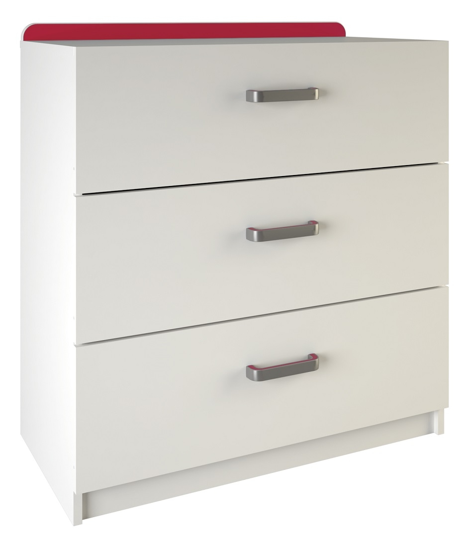 Ladekast Reverso 84 cm hoog in wit | Young Furniture