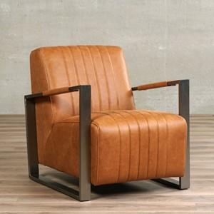 Leren fauteuil jolly, 120+ kleuren leer, in stoel   ShopX