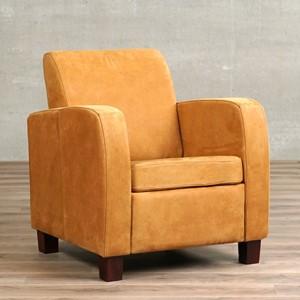 Leren fauteuil joy, 120+ kleuren leer, in stoel   ShopX