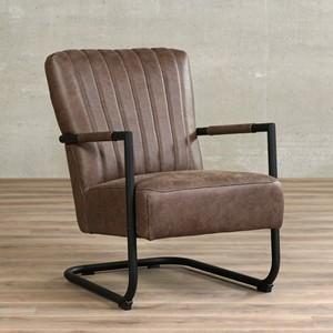 Leren fauteuil lazy, 120+ kleuren leer, in stoel   ShopX