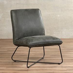 Leren fauteuil less, 120+ kleuren leer, in stoel   ShopX