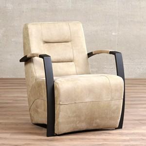 Leren fauteuil magnificent, 120+ kleuren leer, in stoel   ShopX