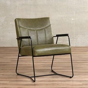 Leren fauteuil right, 120+ kleuren leer, in stoel   ShopX