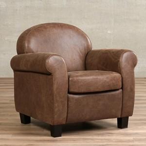Leren fauteuil roommate, 120+ kleuren leer, in stoel   ShopX