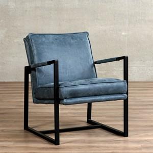 Leren fauteuil secret, 120+ kleuren leer, in stoel   ShopX