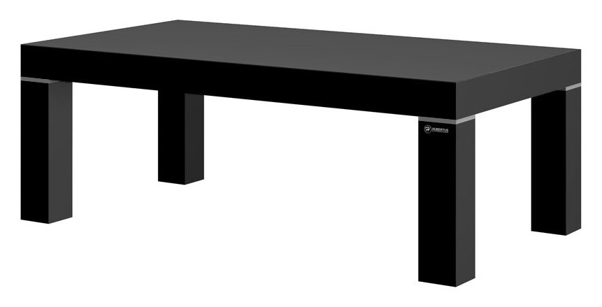 Salontafel Perry 120 cm breed – hoogglans zwart | Hubertus Meble