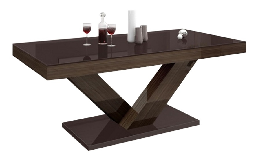 Salontafel Victoria mini 120 cm breed – Hoogglans Bruin | Hubertus Meble