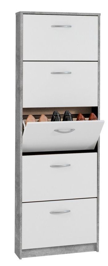 Steps 5 Schoenenkast – Grijs beton met Wit | FD Furniture