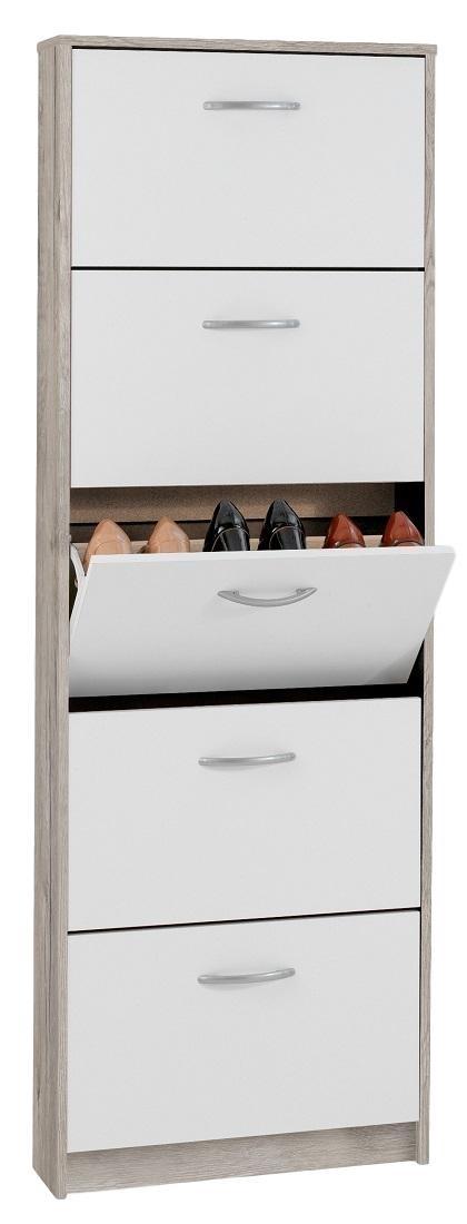 Steps 5 Schoenenkast – Zand eiken met Wit | FD Furniture