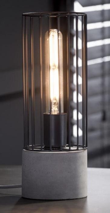 Tafellamp Darkan 34 cm hoog – Grijs | Zaloni