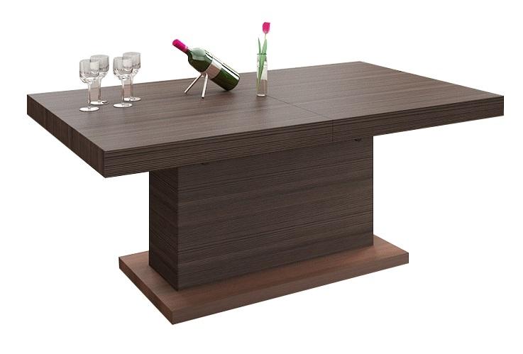 Uitschuifbare salontafel Matera Lux 120 tot 170 cm breed – bruin | Hubertus Meble