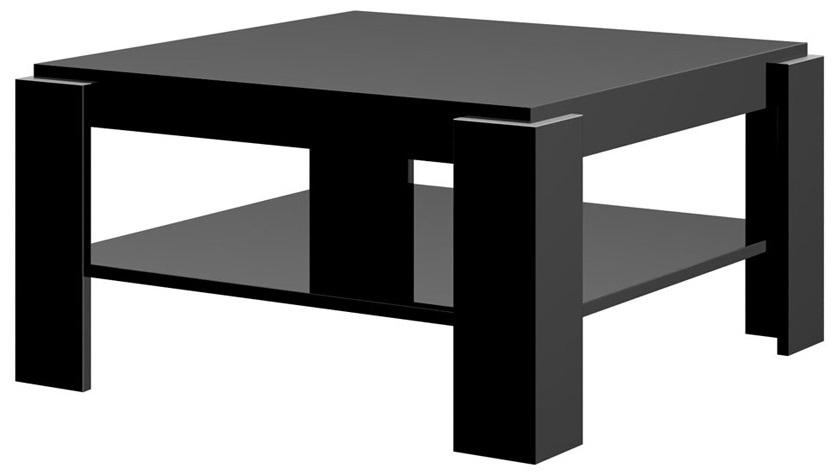 Vierkante salontafel Elba 84 cm breed – hoogglans zwart | Hubertus Meble