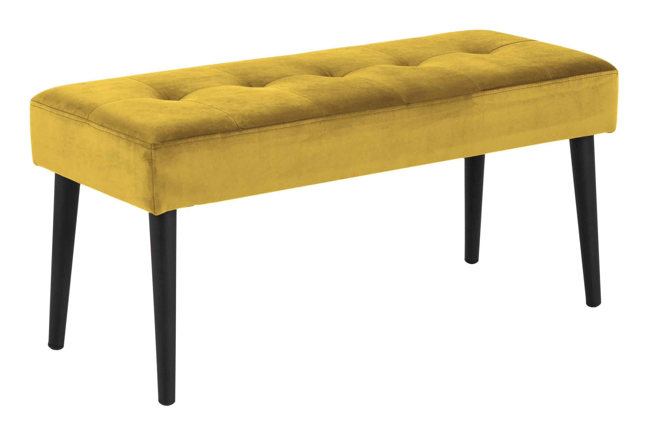 Bendt Halbankje 'Kiara' Velvet, kleur Yellow | Bendt