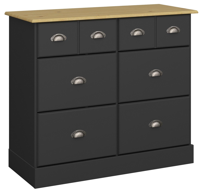 Commode Nola 78 cm hoog in zwart | DS Style
