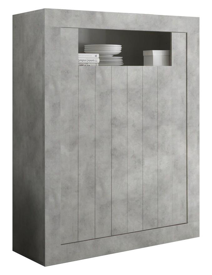 Opbergkast Urbino 144 cm hoog in grijs beton | Pesaro Mobilia