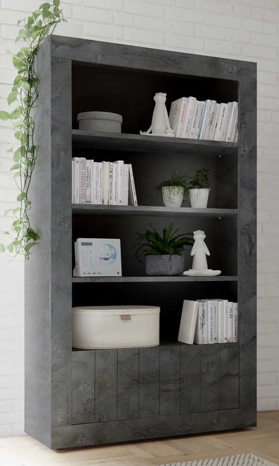 Open boekenkast Urbino 190 cm hoog in oxid | Pesaro Mobilia
