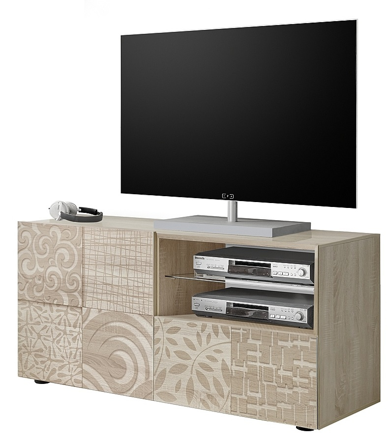 Tv-meubel Miro 121 cm breed in sonoma eiken   Pesaro Mobilia