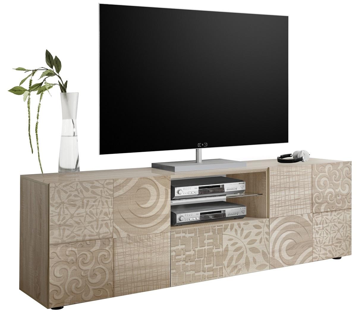Tv-meubel Miro 181 cm breed in sonoma eiken | Pesaro Mobilia