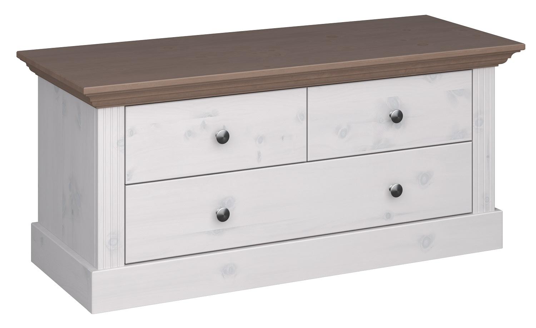 Tv-meubel Monaco 104 cm breed in wit whitewash met steen | DS Style