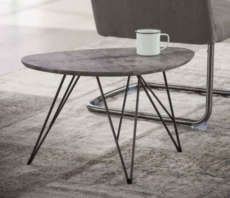 Bijzettafel Zerro 1 Grijs beton – 60 cm | Zaloni