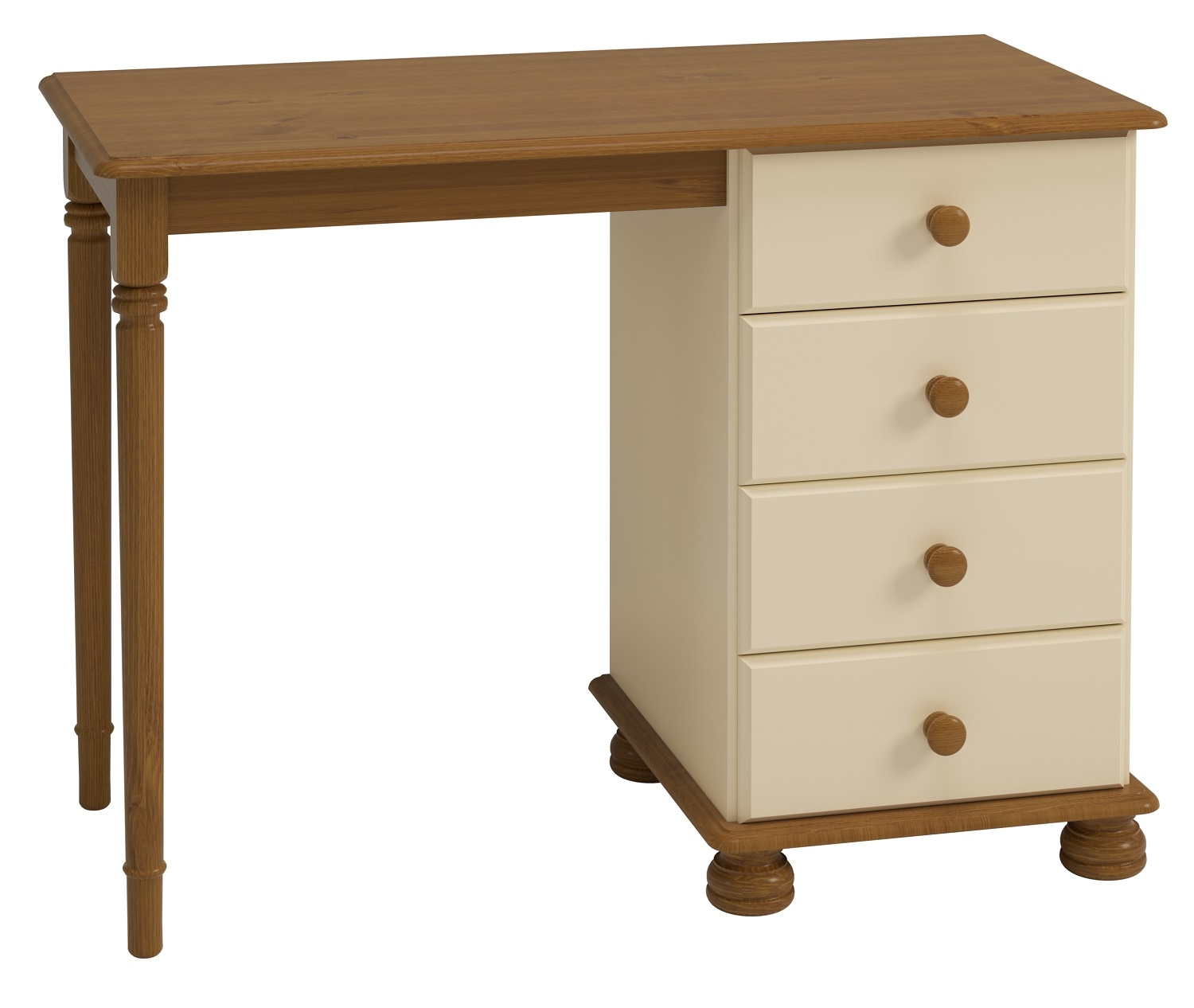 Bureau Rich 100 cm breed in creme | DS Style