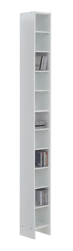 CD DVD Kast 185 cm hoog in wit | FD Furniture