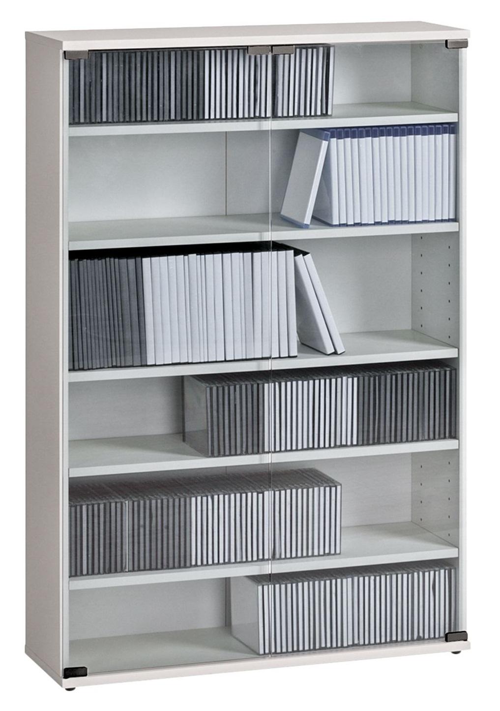 CD DVD kast Maya L 110 cm hoog in wit | Bermeo
