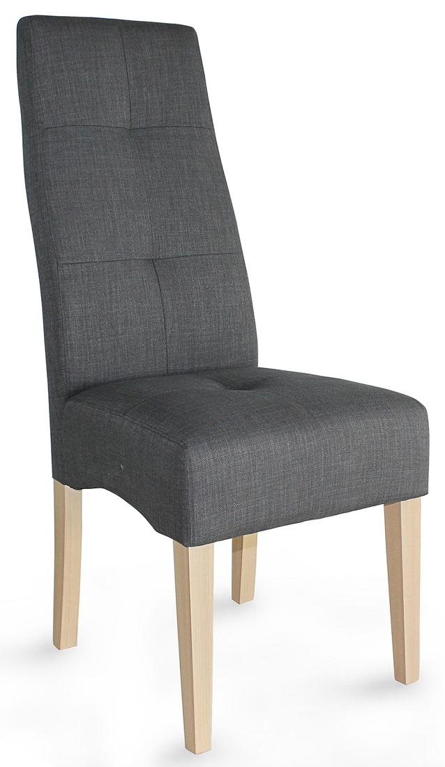 Eetkamerstoel Elite – Grijs met eiken | Young Furniture