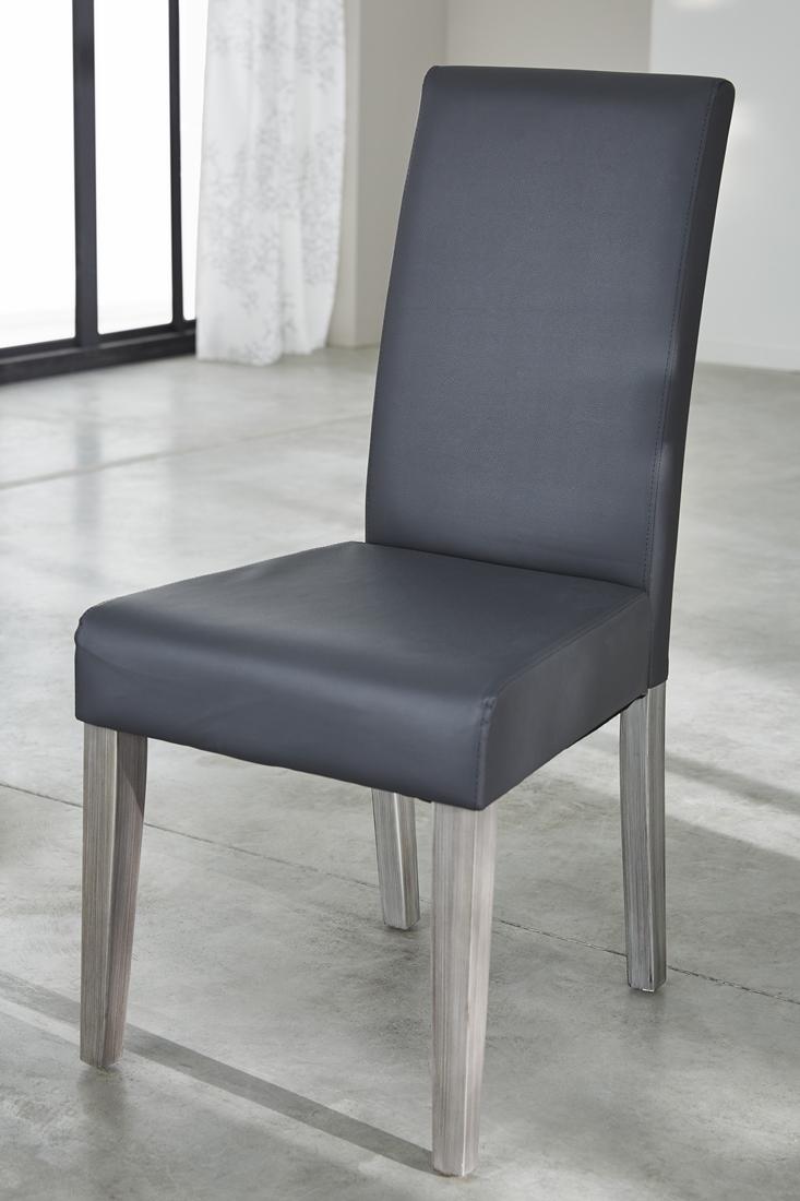 Eetkamerstoel Riva set van 2 stuks in grijs   Young Furniture