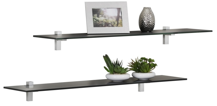 Fristi Boekenplank set 2×70 cm breed – Zwart | Bermeo