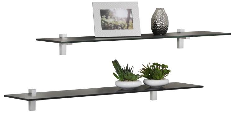 Fristi Boekenplank set 2×90 cm breed – Zwart | Bermeo