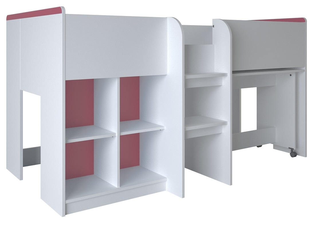 Halfhoogslaper Reverso 90×190 cm breed – wit | Young Furniture