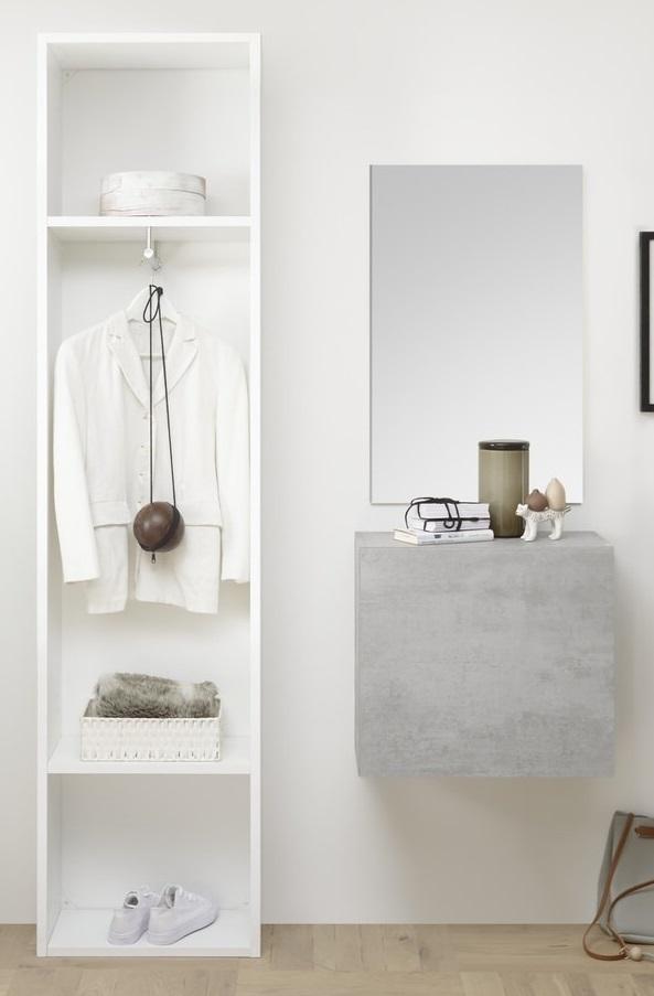 Halmeubelset Bonita 3 delig in wit met grijs beton | Pesaro Mobilia