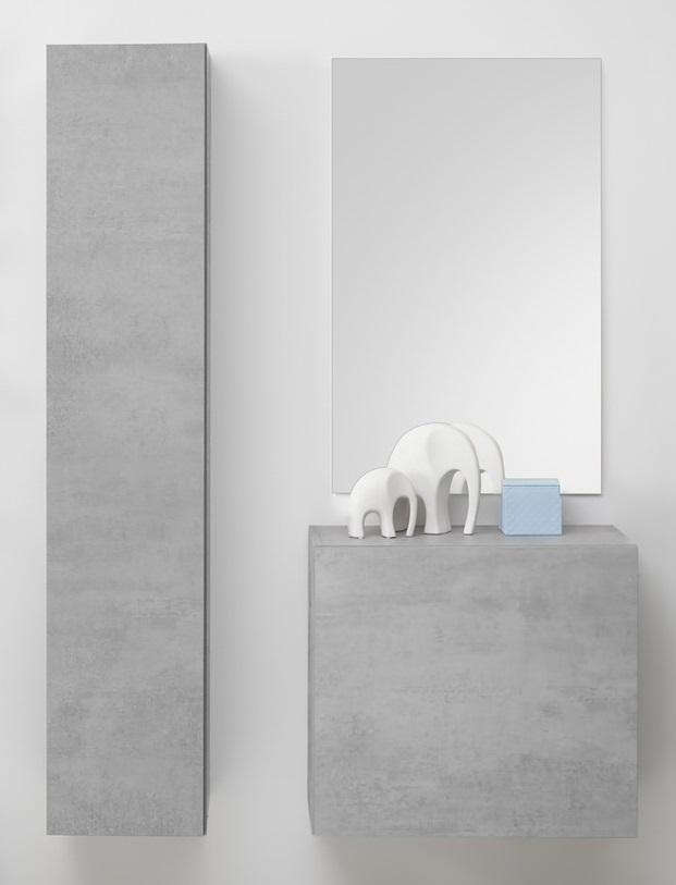 Halmeubelset Frozen 3 delig in grijs beton | Pesaro Mobilia