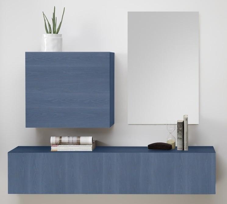 Halmeubelset Shape 3 delig in blauw | Pesaro Mobilia