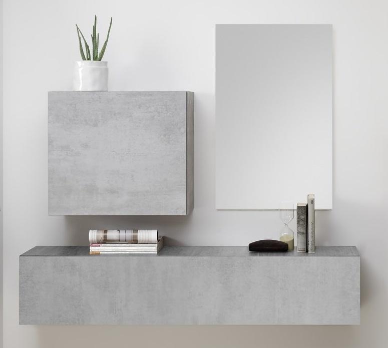 Halmeubelset Shape 3 delig in grijs beton | Pesaro Mobilia
