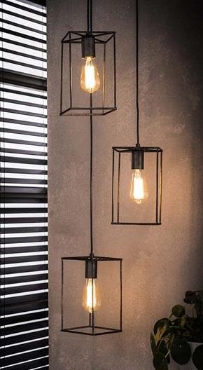 Hanglamp 3L Cubic 25 cm breed – Zilver | Zaloni