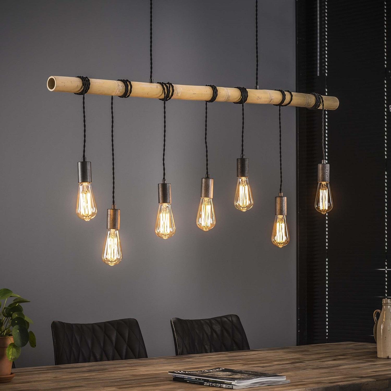 Hanglamp Bamboe 7Lampen van 120 cm breed | Zaloni