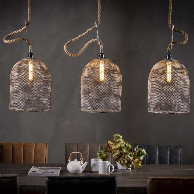 Hanglamp Bijenkorf 3LxØ30 van 130 cm breed – Grijs | Zaloni