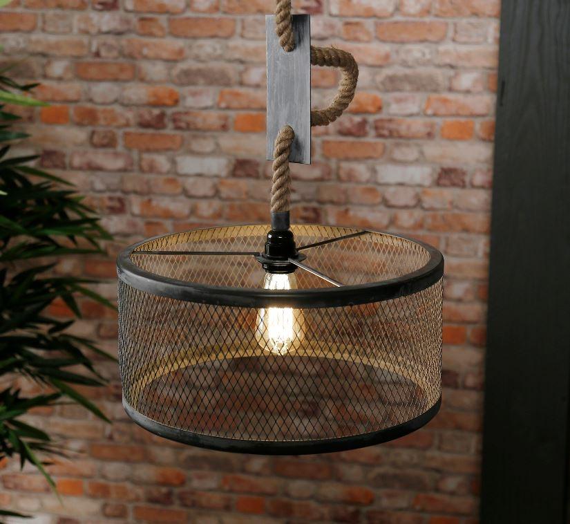 Hanglamp Cody 1LxØ40 van 150 cm hoog in grijs | Zaloni