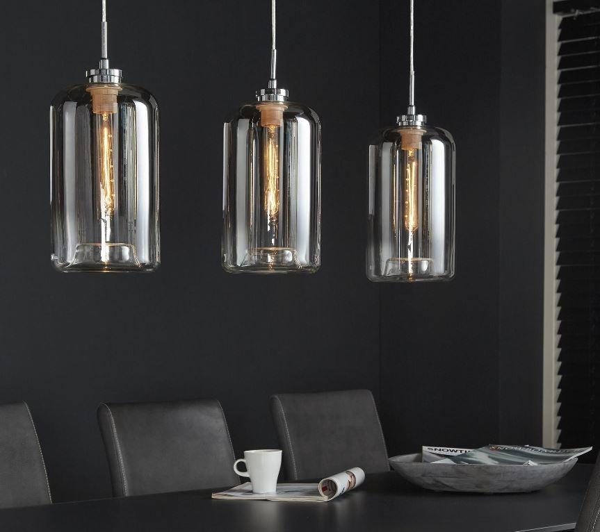 Hanglamp Metallic 100 cm breed met 3xØ18 | Zaloni